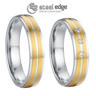 Ocelové snubní prsteny SPPL012