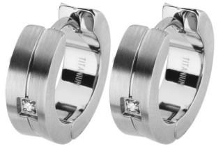 Ocelové náušnice kroužky SEE003-Z2