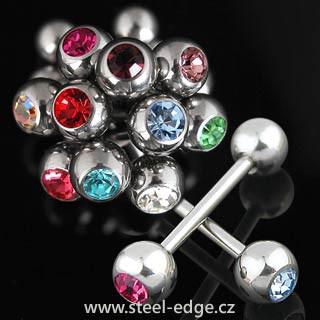 Ocelový piercing do jazyku SEHBJBS03