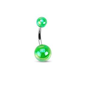 Piercing pupíku 1103 - Green