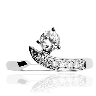 Stříbrný prsten 029