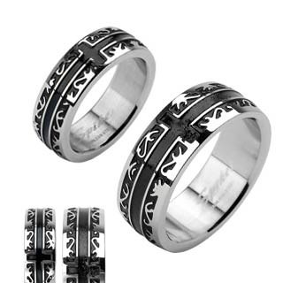 Ocelový prsten SERH1001