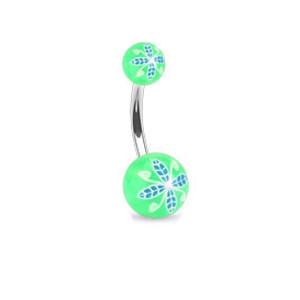 Piercing pupíku 1108 - Green