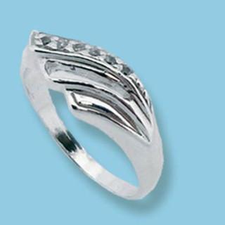 Stříbrný prsten se zirkony 1625004