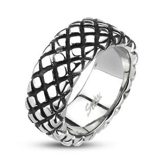 Ocelový prsten Spikes 2005