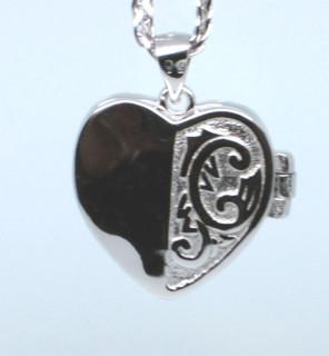 Medailon srdce stříbro 307381