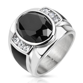 Pečetní prsten z chirurgické oceli 5590