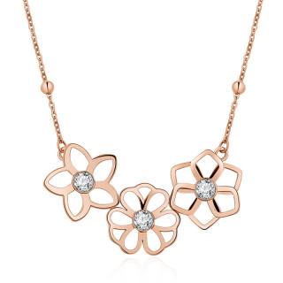 Zlatý náhrdelník Brosway Ikebana BKE06