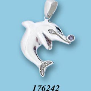 Stříbrný přívěsek se zirkony 176242