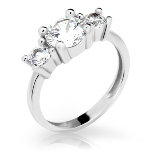 Zásnubní stříbrný prstýnek 2328