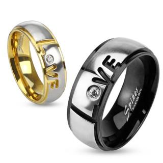 Prsten Spikes 2957 - Love