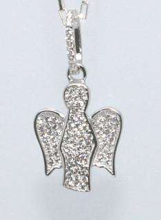 Stříbrný anděl přívěsek 303773