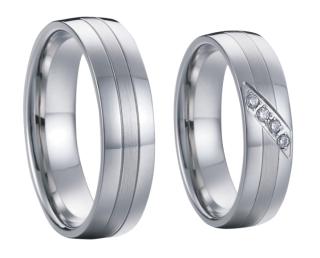 Ocelové snubní prsteny SPPL002