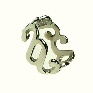 Ocelový prsten R915