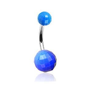 Piercing pupíku 023-BLUE