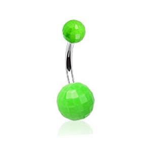 Piercing pupíku 023-GREEN