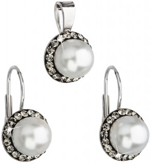 Sada stříbrných šperků se Swarovski elements 39091.3 Bl daimond