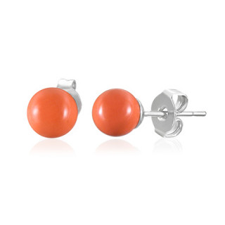 Ocelové náušnice SESSE0105 - Orange