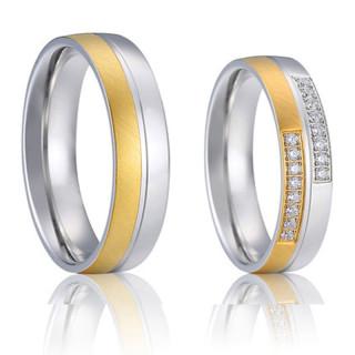 Ocelové snubní prsteny SPPL021