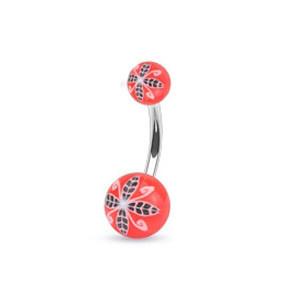 Piercing pupíku 1108 - Red