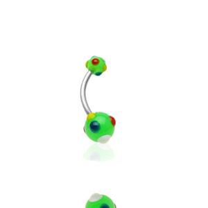 Piercing pupíku 1622-GREEN