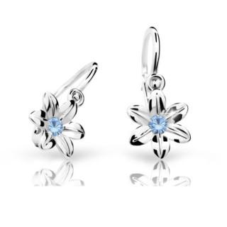 Dětské náušnice Cutie Jewellery C1993B Arctic Blue - Bílé zlato 585/000