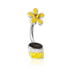 Piercing pupíku 12773 - Yellow