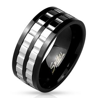 Pánský prsten chirurgická ocel 4538
