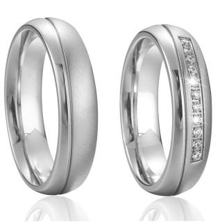Ocelové snubní prsteny SPPL015