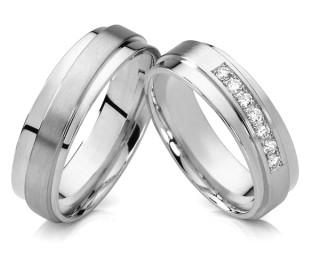 Ocelové snubní prsteny SPPL001