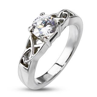 Ocelový prsten Spikes 2178