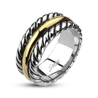 Ocelový prsten Spikes 2003