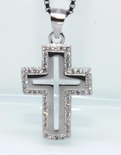 Stříbrný křížek na krk 305335