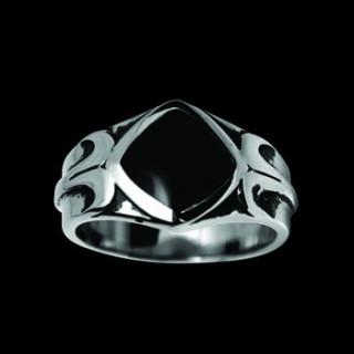 Ocelový prsten 093-on