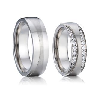 Ocelové snubní prsteny SPPL016