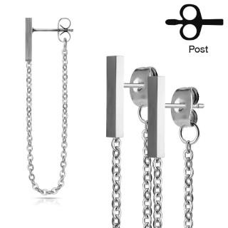 Ocelové náušnice pro ženy a dívky 3070-Steel