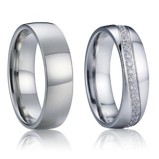Ocelové snubní prsteny SPPL017