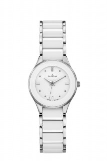 Dámské náramkové hodinky bílá keramika Dugena 4460772