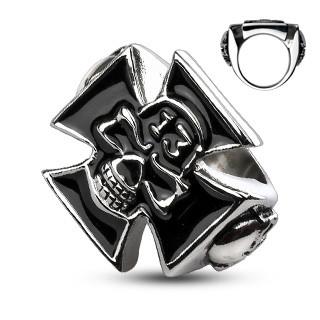Ocelový prsten Spikes 2016