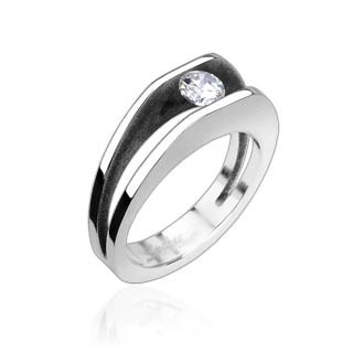 Ocelový prsten Spikes-8003
