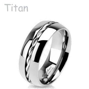 Titanové snubní prsteny Spikes 3656