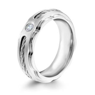 Ocelový prsten MCRSS012