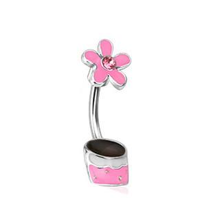 Piercing  pupiku 12773 - Pink