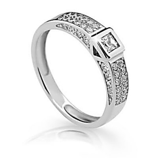 Prsten stříbro se zirkony 2361
