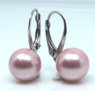 Stříbrné náušnice s perlou 305055