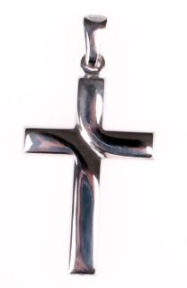Stříbrný křížek 302024