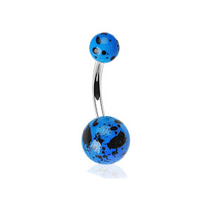 Piercing pupíku 012-BLUE