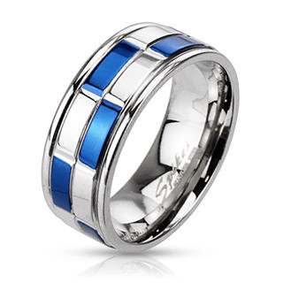 Ocelový prsten Spikes 2184