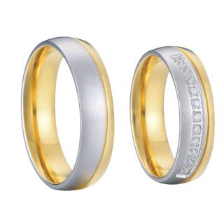 Ocelové snubní prsteny SPPL005