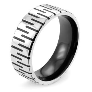 Ocelový prsten MCRSS002